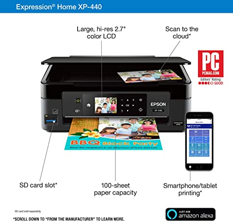 Amazon.com: Epson Expression Home XP-440 Impresora ...