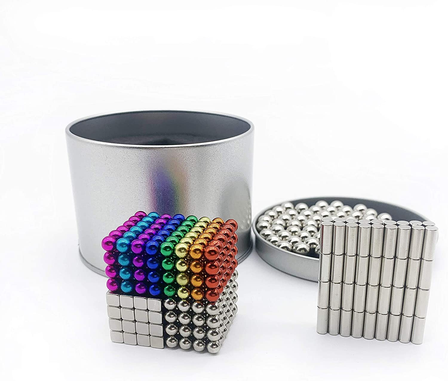 sunsoy Magnetic Balls Rainbow 510 PCS 5 MM Decompression Office Desktop Toys Creative Design Cool Office Stress Reliever for Teens and Adults