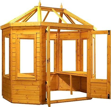 Waltons - Invernadero Octogonal de Madera para Invernadero (8 x 6 cm, Incluye 2 Puertas de estireno): Amazon.es: Jardín