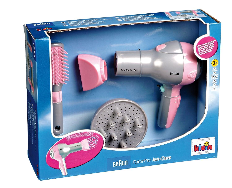 Theo Klein 5850 - Braun Secador de pelo con difusor y el pincel Klein / Braun 2358501