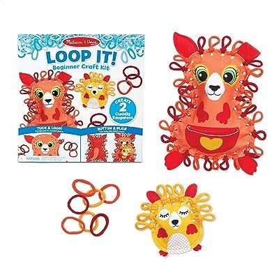 Melissa & Doug Loop It! Cuddly Kangaroos Beginner Craft Kit – Felt Kangaroo and Baby Joey: Toys & Games