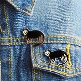 Aland Unisex Lapel Jacket Badge Enamel Skull Cat