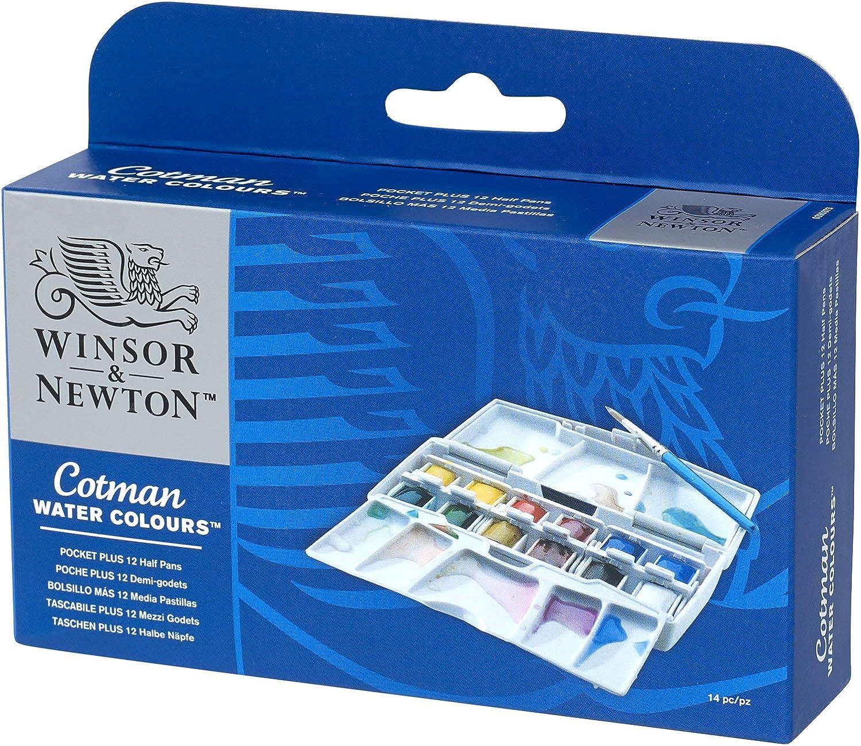 Winsor & Newton Cotman 1 caja de 12 x medio godets de acuarelas ...
