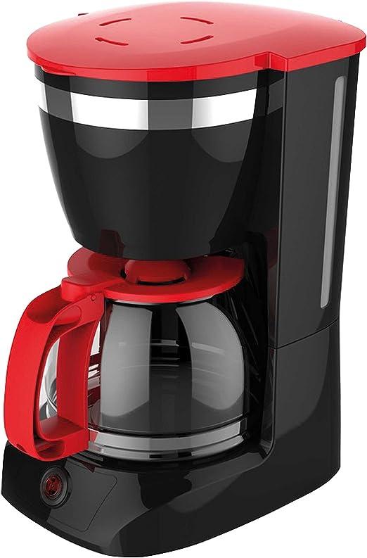 Cafetera de goteo con filtro, color negro y rojo: Amazon.es: Hogar