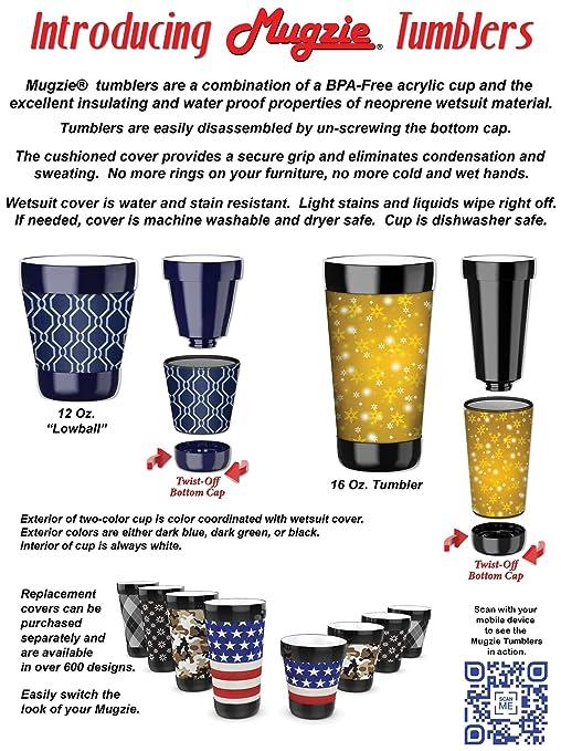 Mugzie vaso bebida taza con extraíble con aislamiento cubierta de neopreno - Old máquinas de coser, plástico, Multicolor, 454 g: Amazon.es: Hogar
