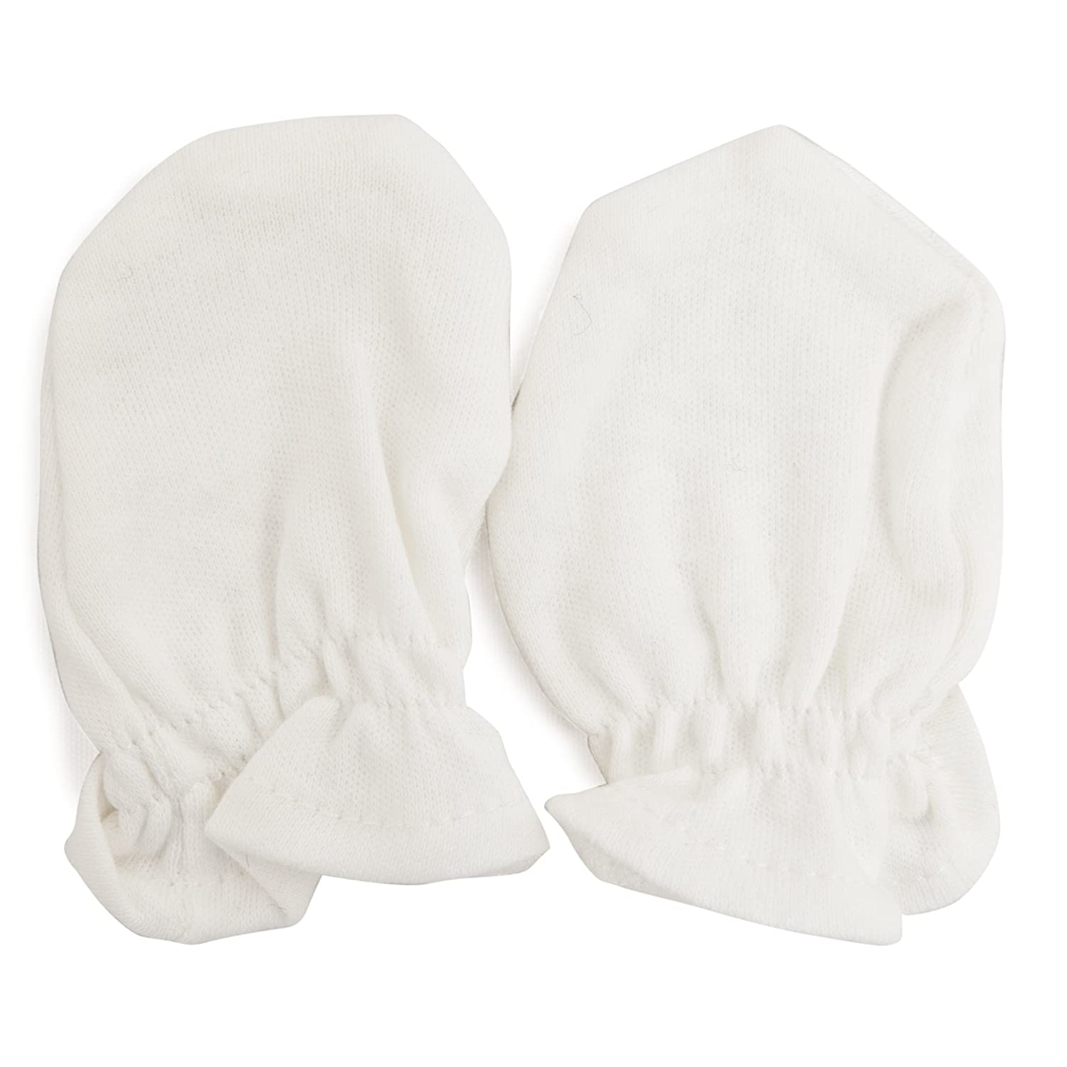 Baby New Born Scratch Mittens (Pack of 2 Pairs) (One Size Fits All) (Cream) Universal Textiles