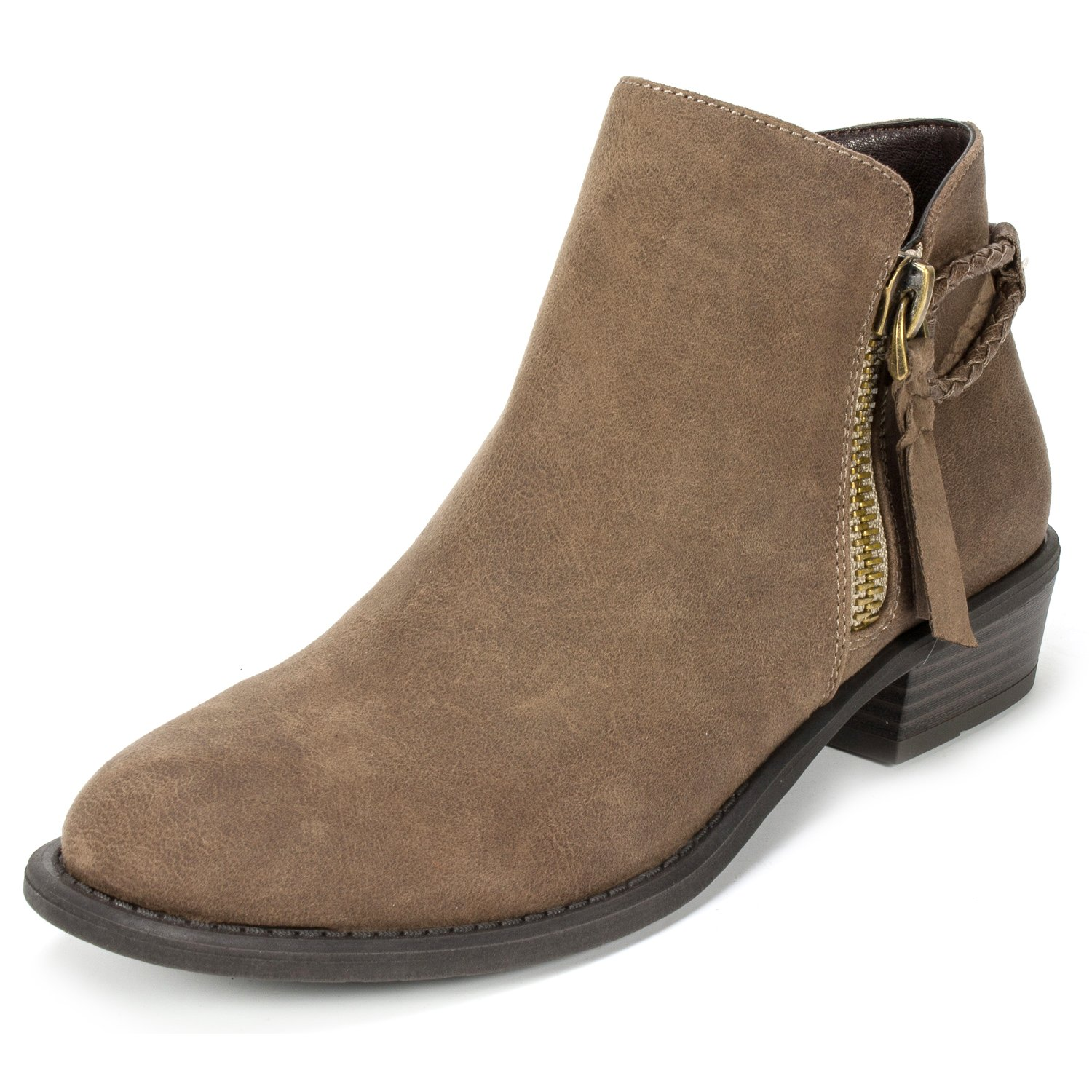WHITE MOUNTAIN Women's Dart Ankle Boot B0761S6Q6J 7.5 B(M) US|Dark Taupe