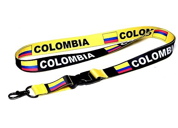 Amazon.com: Bandera de Colombia Reversible Cordón/llavero ...