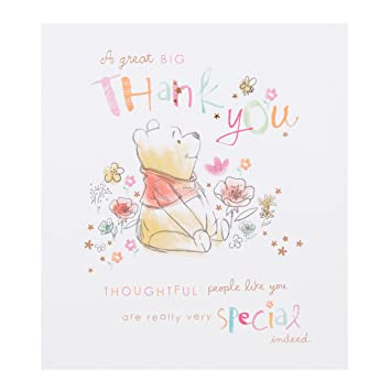 hallmark disney winnie the pooh thank you card thoughtful small