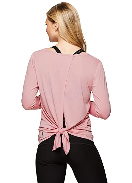 cb1e270ca3f6b4 RBX Active Women's Long Sleeve Tie Back Workout Yoga Top: Amazon.ca:  Clothing & Accessories