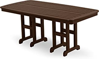 product image for POLYWOOD NCT3772MA Nautical Dining Table, 37 by 72-Inch, Mahogany