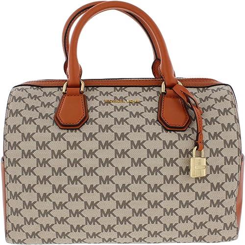 MICHAEL Michael Kors Signature Mercer Medium Duffle Bag NaturalOrange