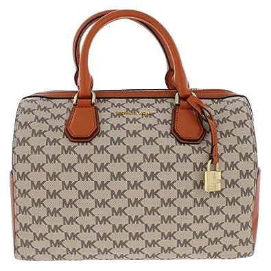 b9e3845dc78b MICHAEL Michael Kors Womens Leather Studio Duffle Handbag Orange Medium:  Handbags: Amazon.com