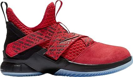 84ae21012de Nike Kids  Grade School Lebron Soldier XII Basketball Shoes (Red Black