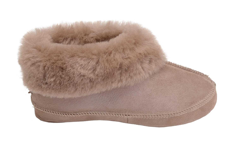 Rusnak Vogar Hommes Femmes Luxe Peau De De De Mouton Pantoufles Chaussons Chaussures avec Double Chaud Laine Femmechette W081 - B01DXX6GRQ - Chaussons 20d740