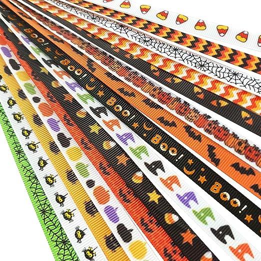 "Halloween 3/""  grosgrain ribbon 2 yards listing"