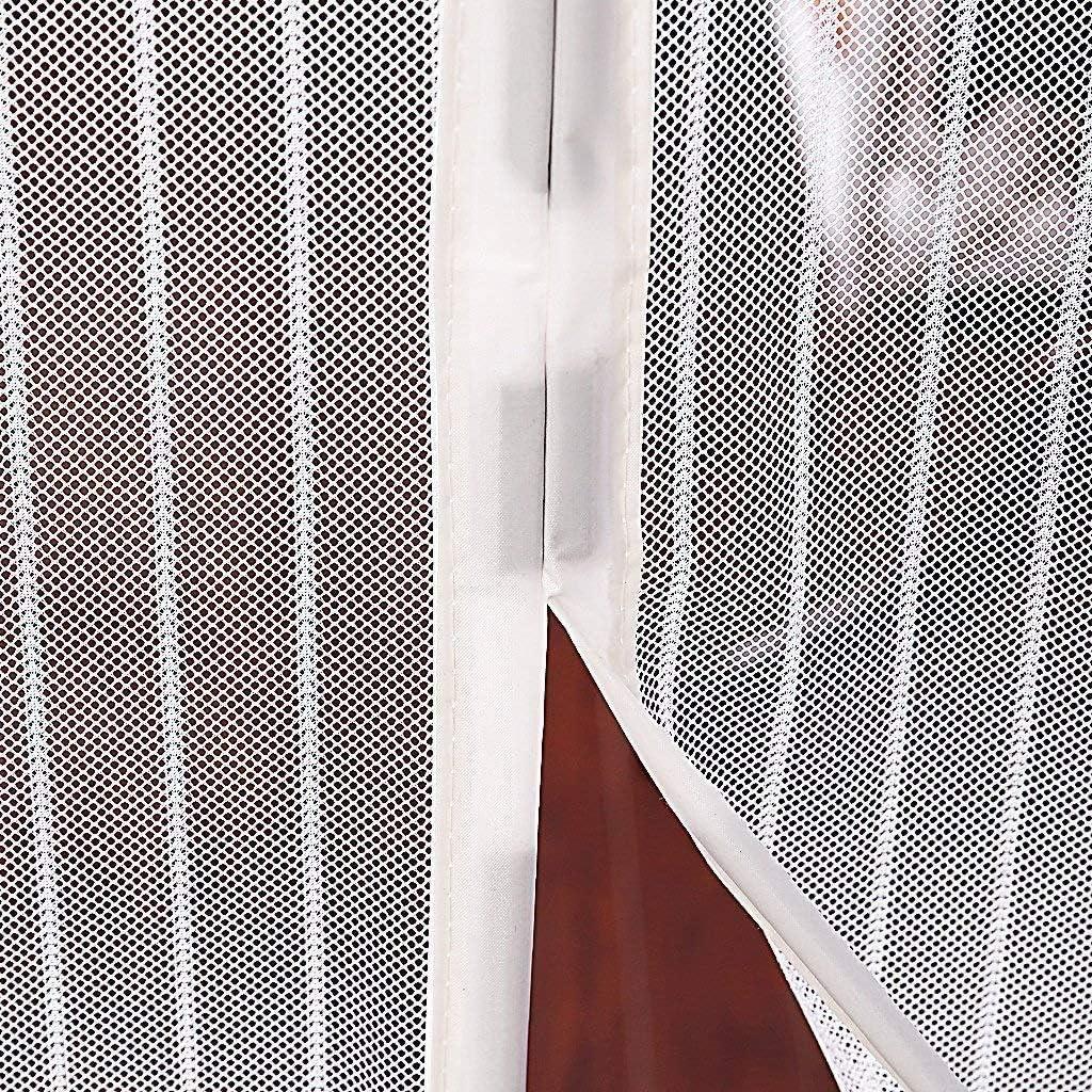 THAIKER Corredera Cortina Mosquitera Magn/ética 28x75inch 70x190cm Mosquiteras Correderas Magn/ética Autom/ático Cierre magn/ético Que se Cierra autom/áticamente para Balcones Blanco
