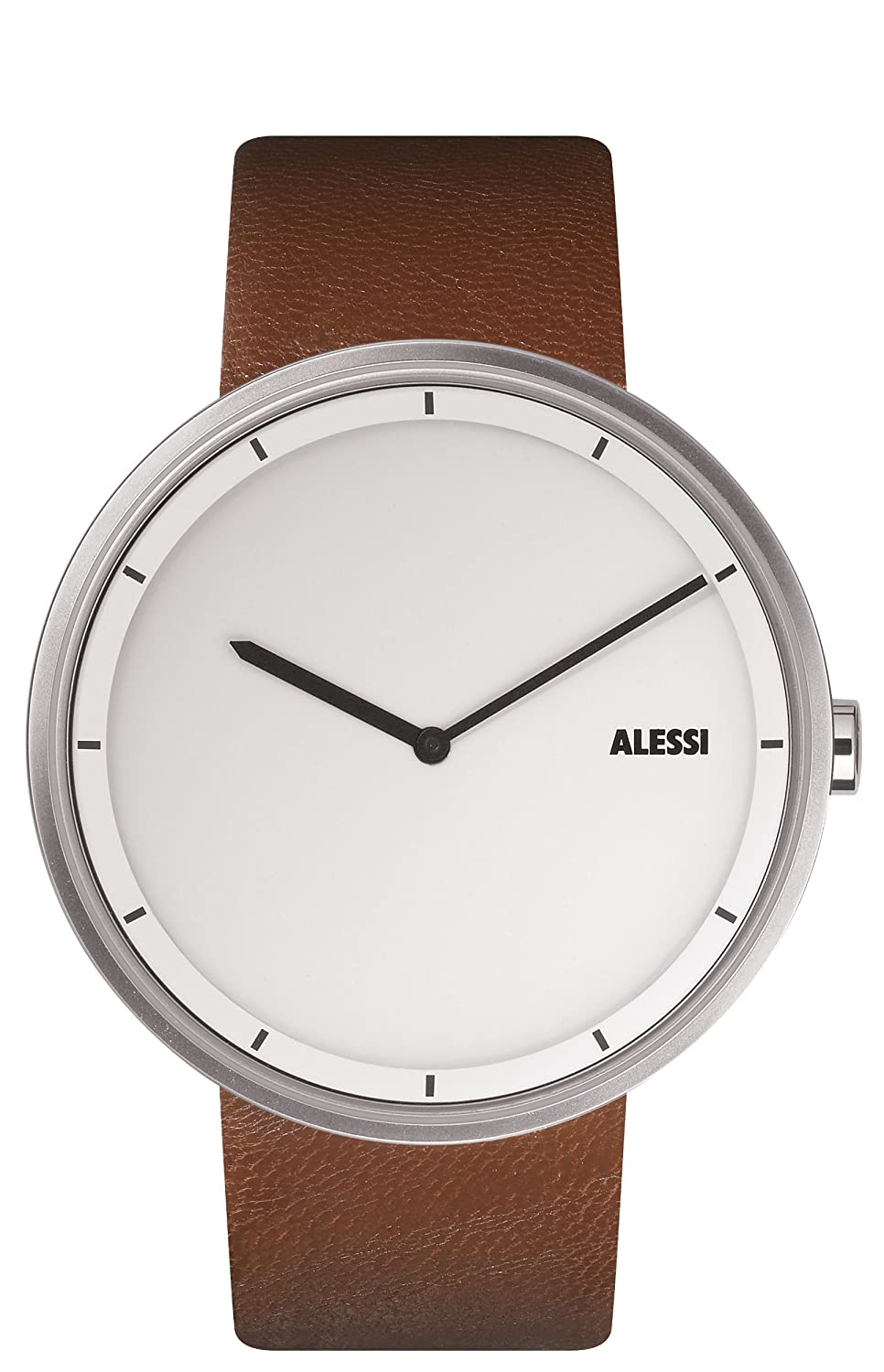 amazoncom alessi unisex al out time brown leather strap  - amazoncom alessi unisex al out time brown leather strap watchwatches