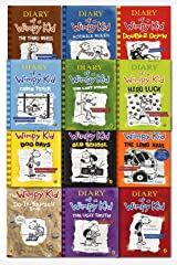 Diary Of A Wimpy Kid Collection 12 Books Set By Jeff Kinney Paperback