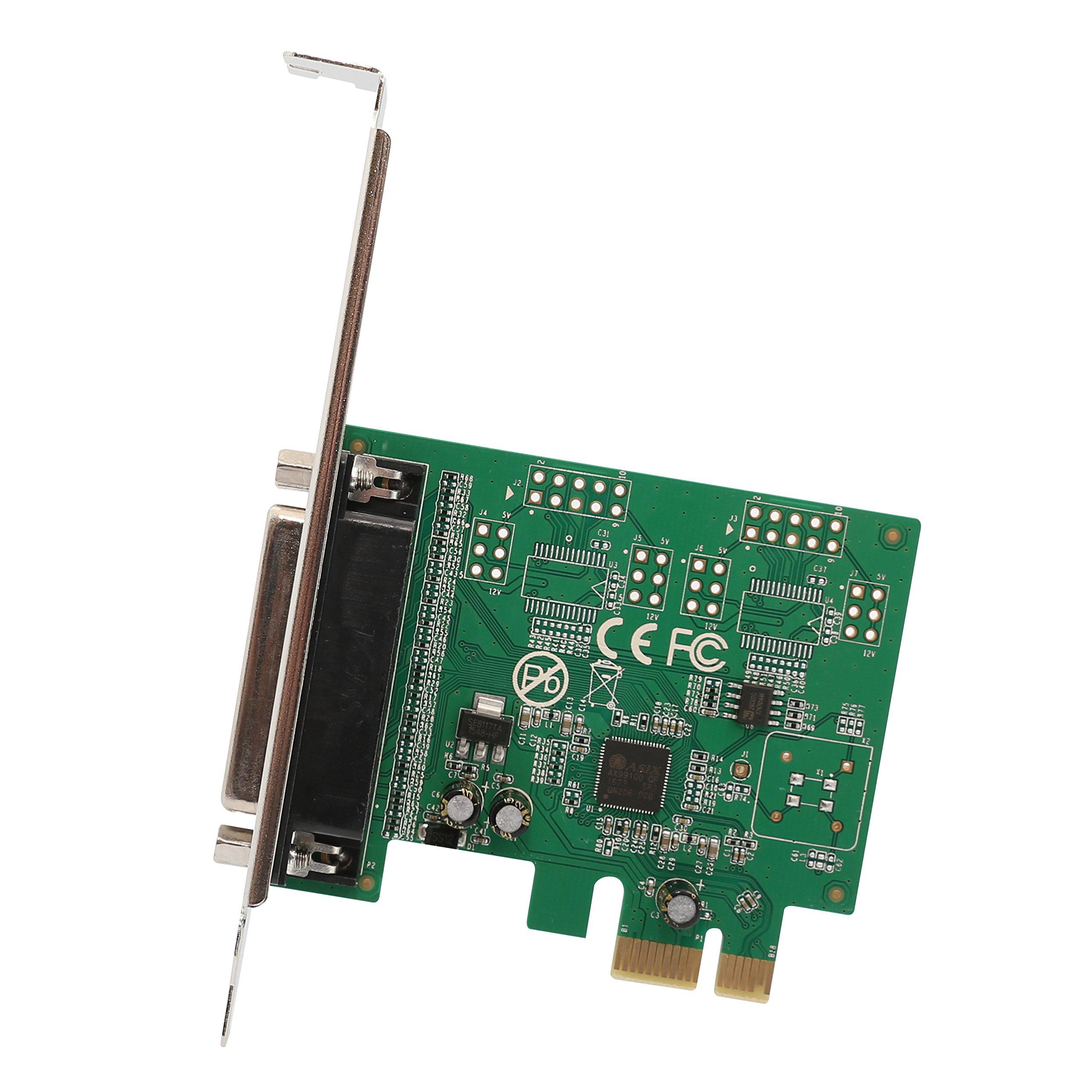 Tarjeta Paralela Io Crest 1 Puerto Pcie X1, Pci Express A Db25 Lpt Impresora Convertidor Adaptador Controlador Con Sopor