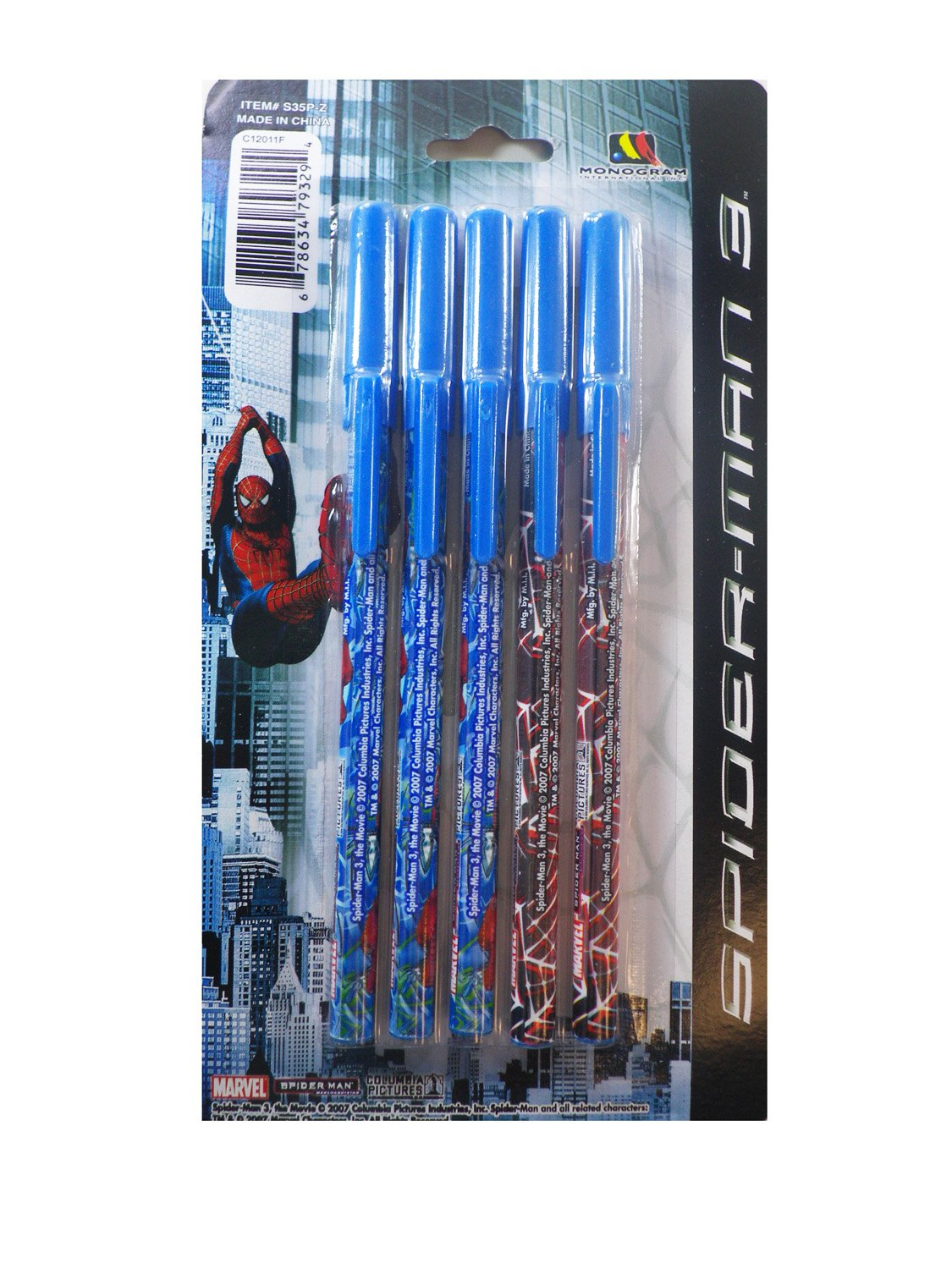 Amazon.com: Marvel 5 Pack Spiderman Pens - Spiderman ...