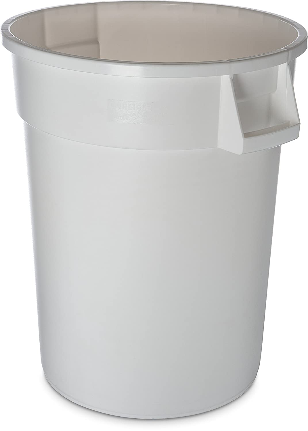 Carlisle 34103202 Bronco Round Waste Container Only, 32 Gallon, White