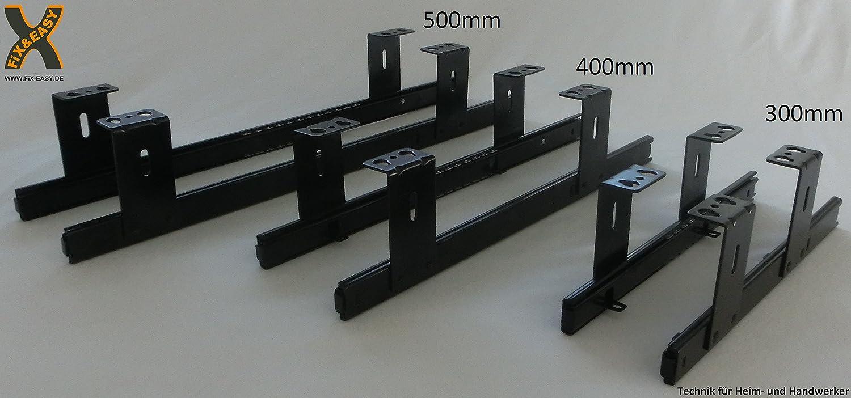 FIX/&EASY Gu/ías con bandeja 800X300mm tono haya corredera extraible galvanizado 300mm set caj/ón con extracto para porte teclado rat/ón laptop