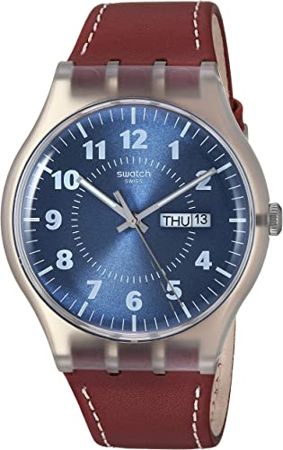 swatch homme bracelet cuir