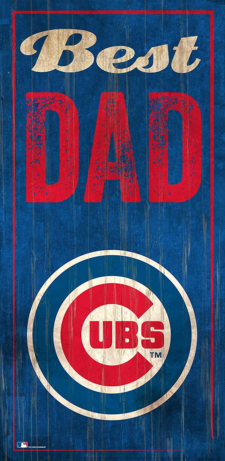 Fan Creations Chicago Cube 6 x 12 Best Dad Wood Sign