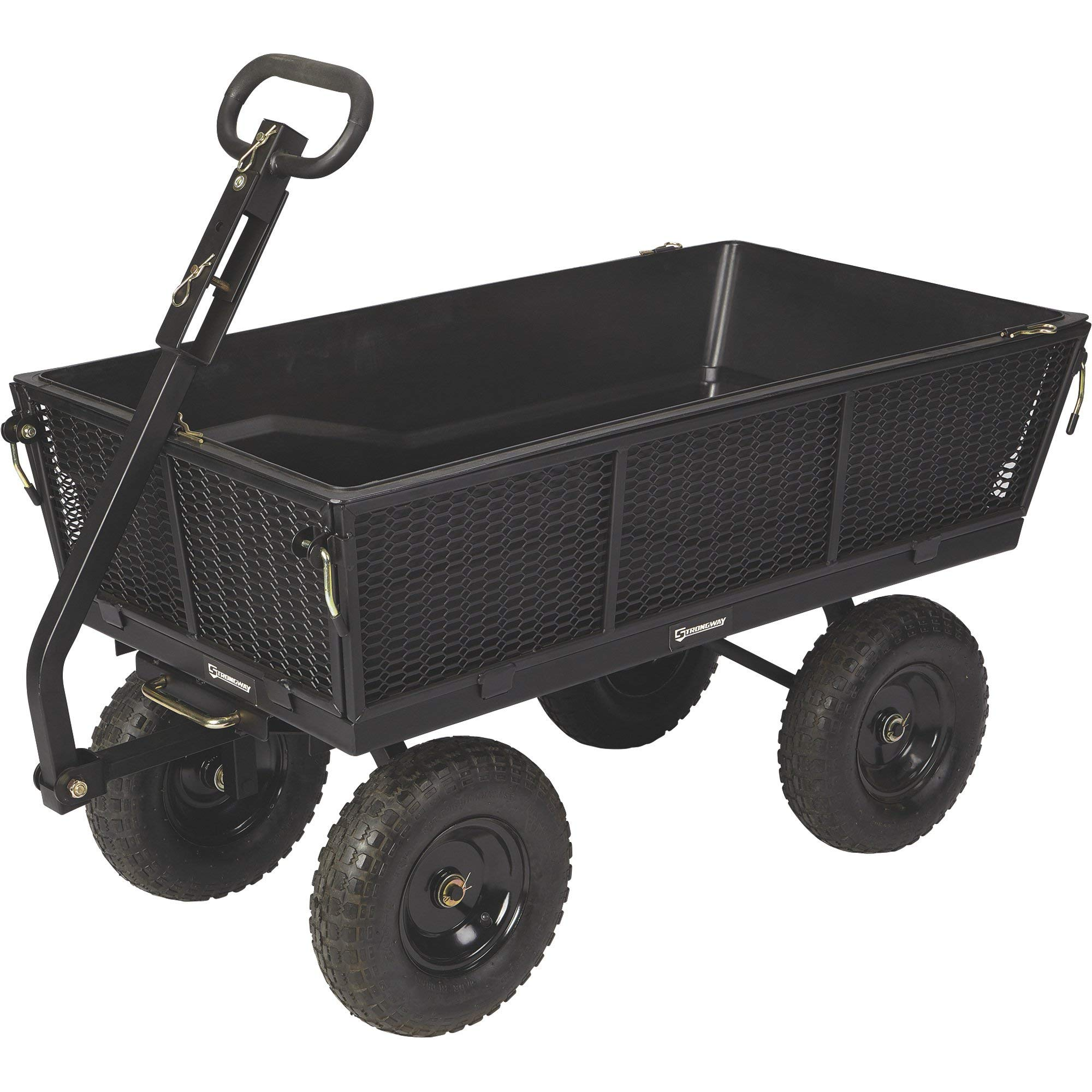 Strongway Steel Dump Cart with Removable Liner - 1200-Lb. Capacity, 50in.L x 24in.W Overall Size
