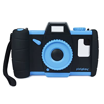 Pixlplay – Turn Your Smartphone into a Fun Kids Camera – Digital Toy Camera for Toddlers & Children (Blue): Camera & Photo