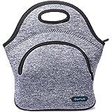 Cosfashネオプレンランチハンドバッグ再利用可能男性女性大人子供幼児看護婦用ランチボックス (ブル ーとグレー)