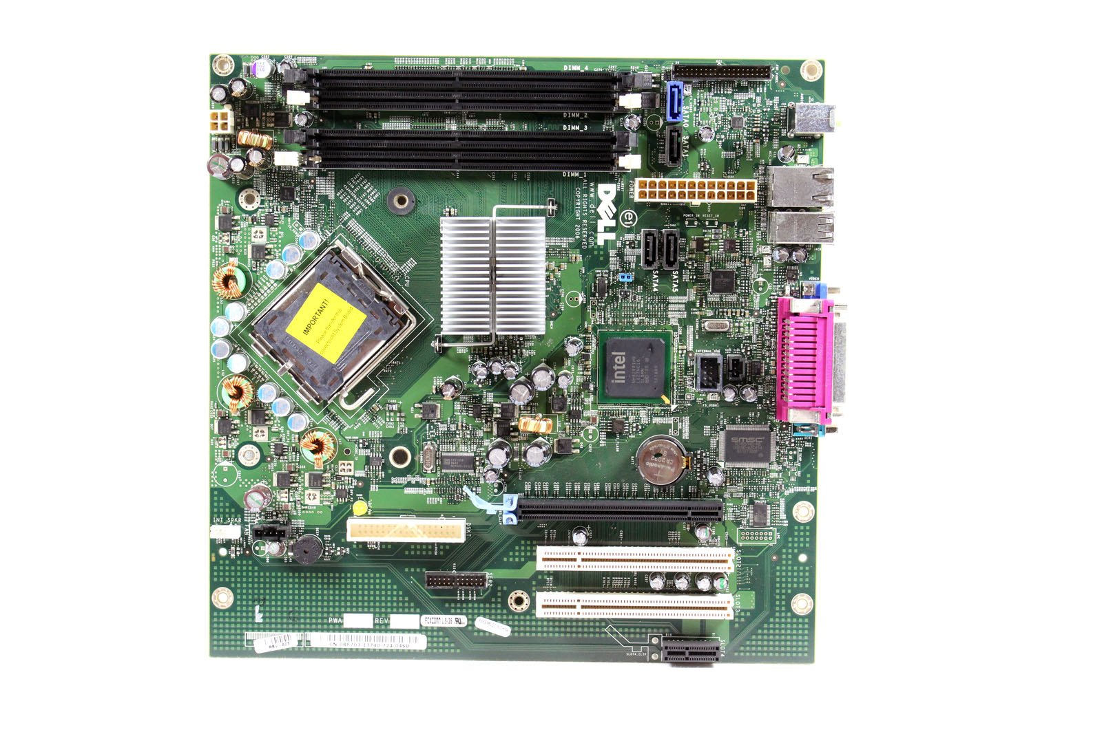 Genuine Dell Motherboard Logic Board For Optiplex 745 Small Mini Tower SMT Systems Intel Q965 Express DIMM Memory Chipset Compatible Part Numbers: TY565, HR330, KW626, RF703