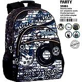 Montichelvo Montichelvo Double Backpack A.O. CG Party Bolsa Escolar, 43 cm, (Multicolour)