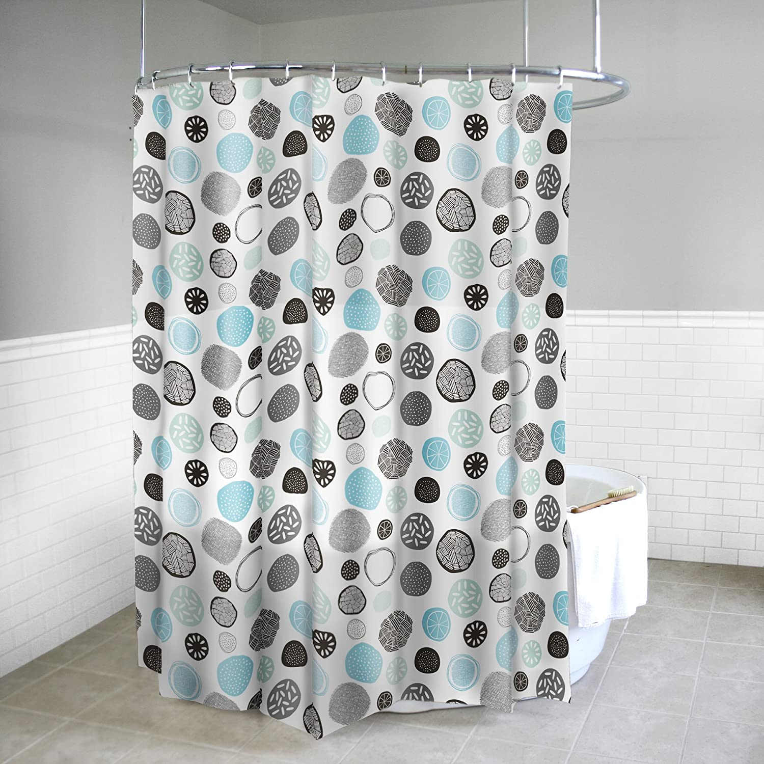 Splash Home PEVA 5G Spek Shower Curtain Liner Design For Bathroom Showers And Bathtubs