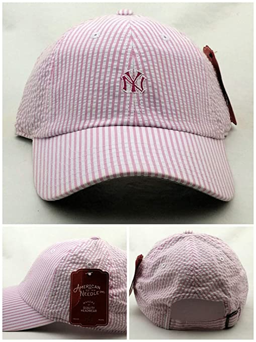fb16cfd80 Amazon.com : American Needle New York Yankees New Seersucker Pink ...