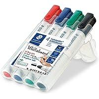 Staedtler 351 WP4 Lumocolor Whiteboard Marker met Bullet Tip, Veelkleurig, Pack van 4