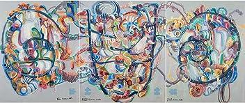 Tríptico Génesis Pintura Abstracta Pintura Abstracta Original Hecha A Mano