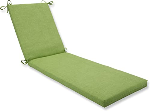 Pillow Perfect Outdoor/Indoor Baja Linen Lime Chaise Lounge Cushion 80x23x3,Green