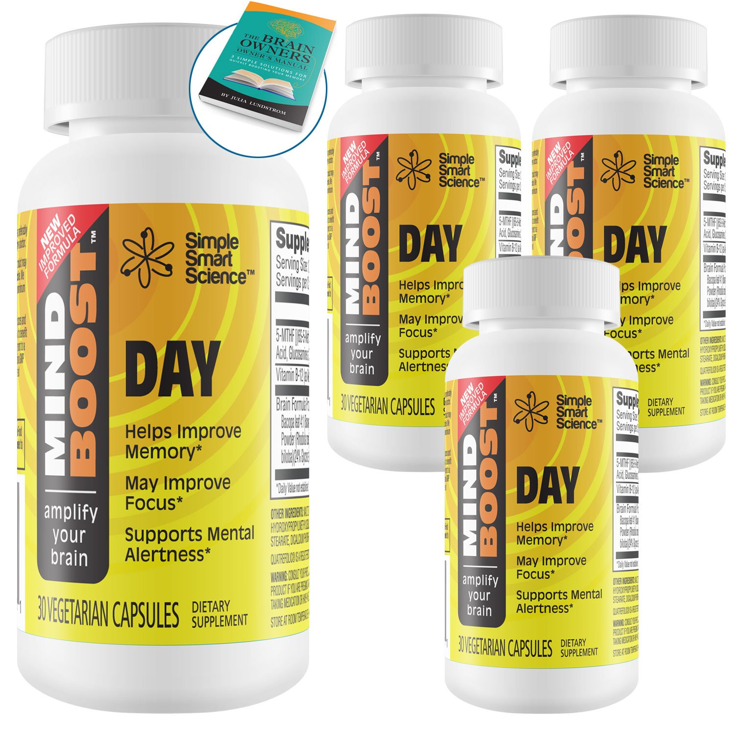Boost Your Memory - Clinically Formulated Premium Supplement for Enhanced Memory, All-Day Focus & Energy. 100% Guaranteed Proprietary Formula Using Therapeutic Dosages That Support Clinical Trials.