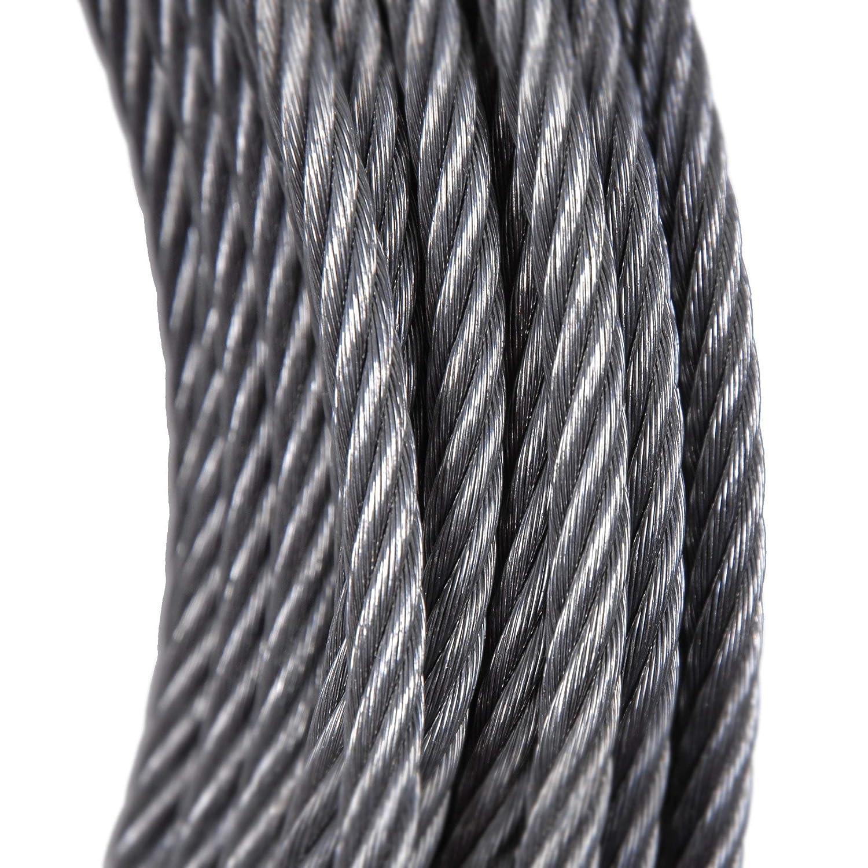 Stahldrahtseil Meterware 7x7 0,5m 6x37 /Ø 1mm // 7x7 Drahtseile24 Drahtseil 7x19 6x19 Stahlseil verzinkt