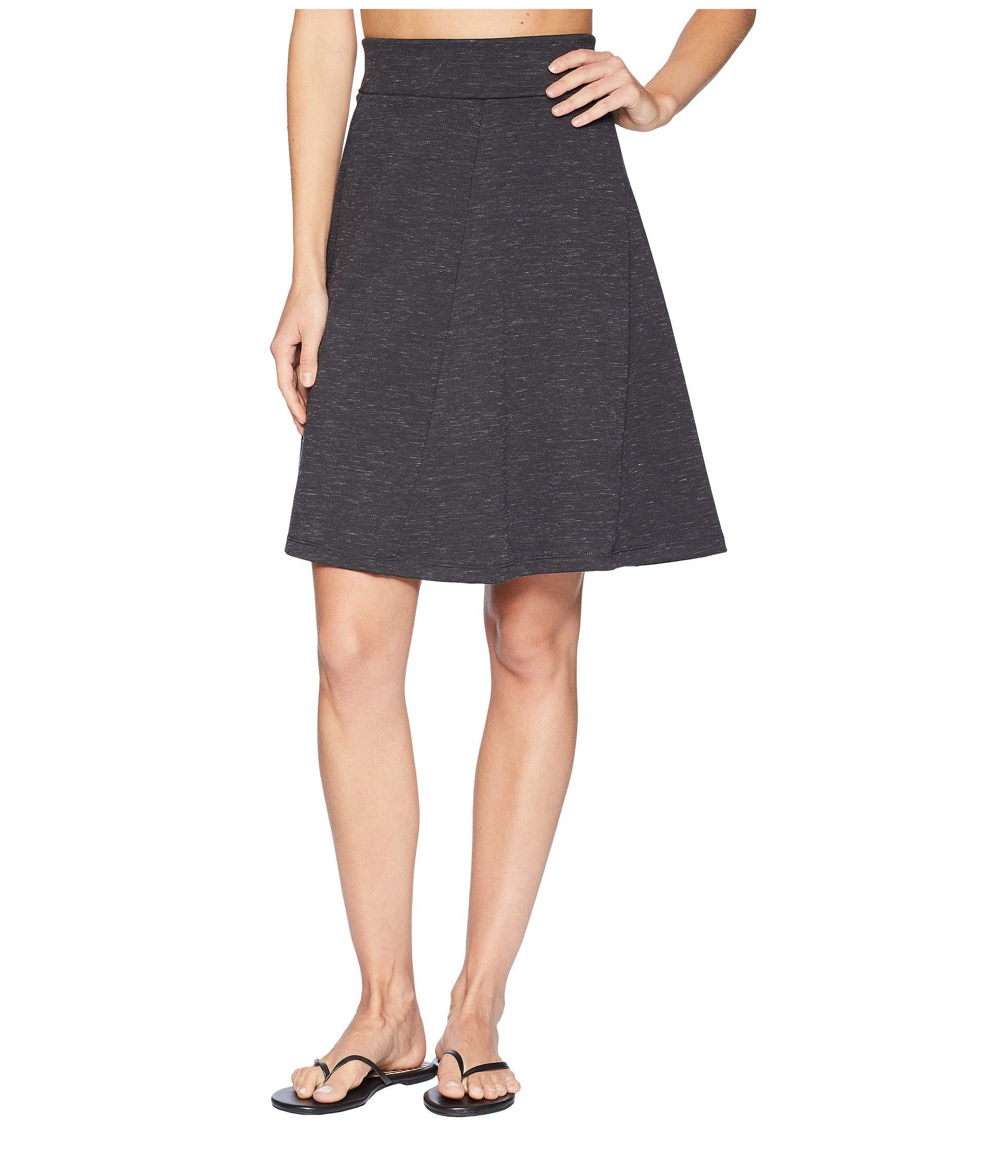 Royal Robbins Women's Geneva Ponte Skirt, Medium, Charcoal Heather by Royal Robbins