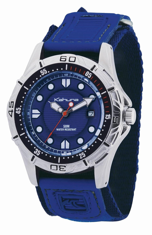 Kahuna K5V-0001G - Reloj analógico de caballero de cuarzo con correa azul