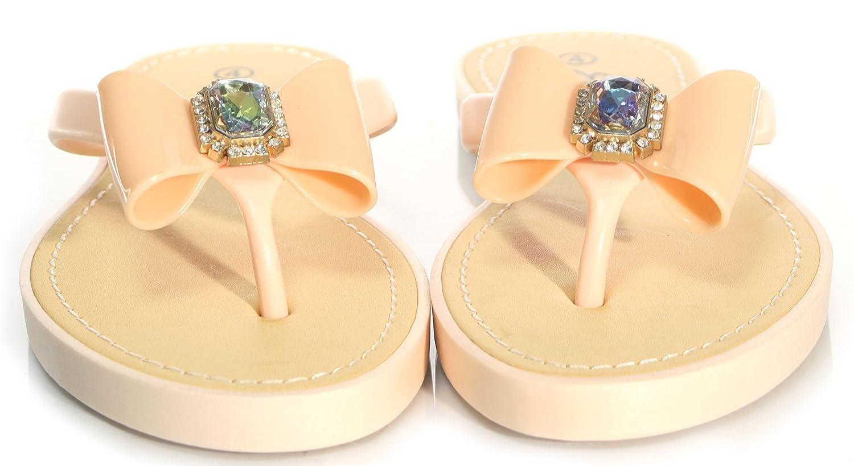 WOMENS LADIES ELLA SANDALS FLIP FLOP SOFT SOLE JEWEL UK SIZES 3-8:  Amazon.co.uk: Shoes & Bags