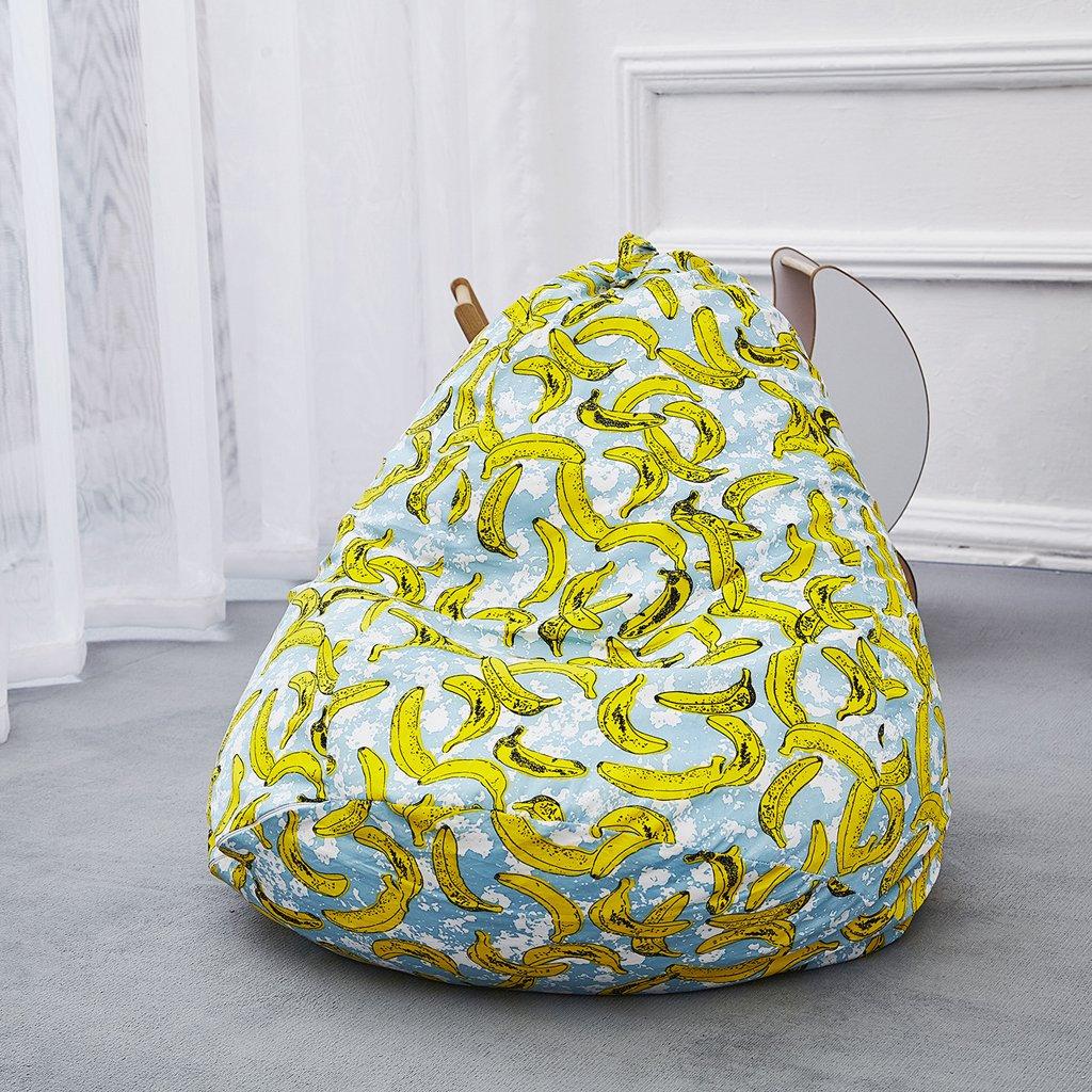 D DOLITY Pouf Cover Fodera Bean Bag Copri Poltrona a Sacco Disegno Banana 70x50x72cm