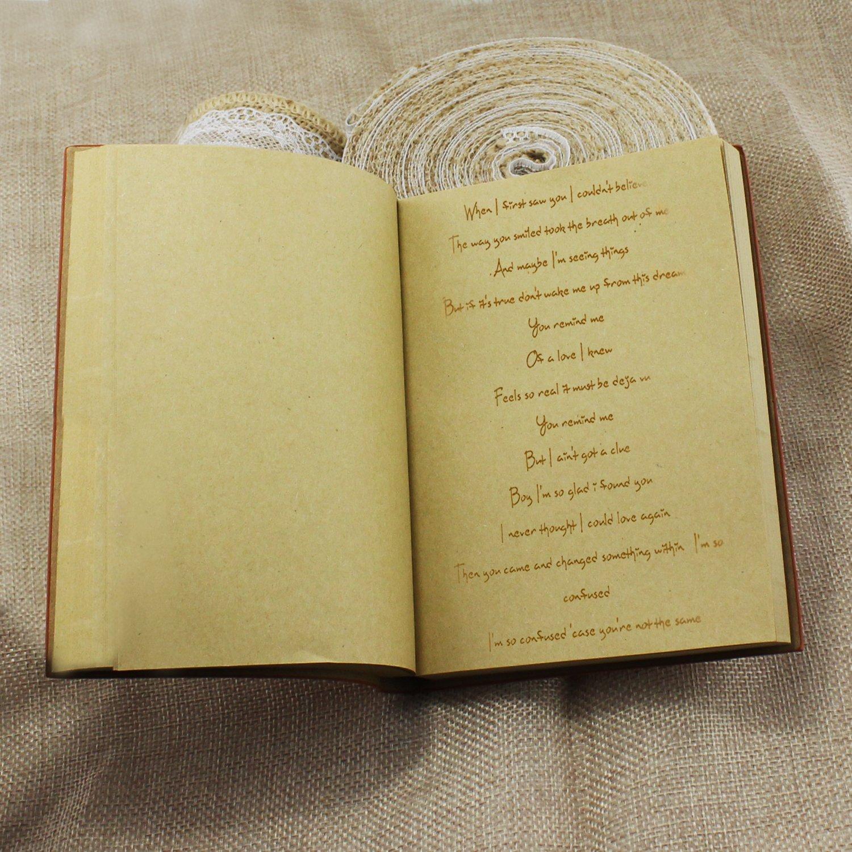 KEESIN PU-Abdeckung Notizbuch-Retro Braun Schl/üssel-Schreibenb/ücher Tagebuch-Weinlese-Art