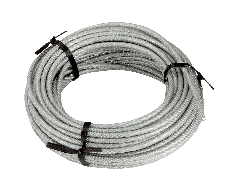 Connex DY2701386 Drahtseil Kunststoffummantelt mit Textilfaserseele ...