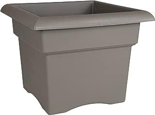 product image for Bloem Fiskars 18 Inch Veranda 5 Gallon Box Planter, Color Cement (57718), 18-Inch