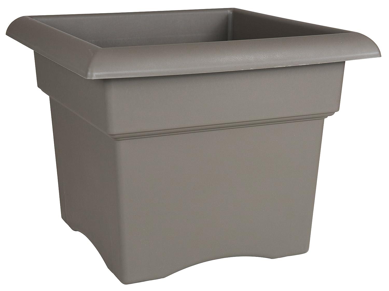 Bloem Fiskars 18 Inch Veranda 5 Gallon Box Planter, Color Cement (57718), 18-Inch