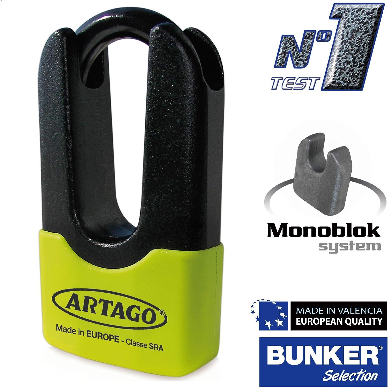 Bunker Selection Sold Secure Gold ARTAGO 69/x Antivol Disque Haute Gamme Double Fermeture /Ø14/homologu/é SRA Art4